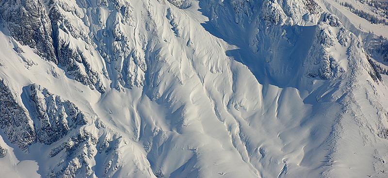 Schnee Neuschnee Schneechaos Hochgebirge Gebirge Berge
