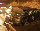 Unfall B99 Glatteis Lieserschlucht