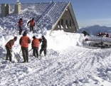 Hochkar Schnee Aufräumarbeiten