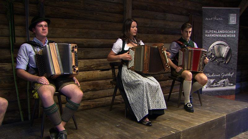 Vorspiel beim Alpenländischen Harmonikabewerb