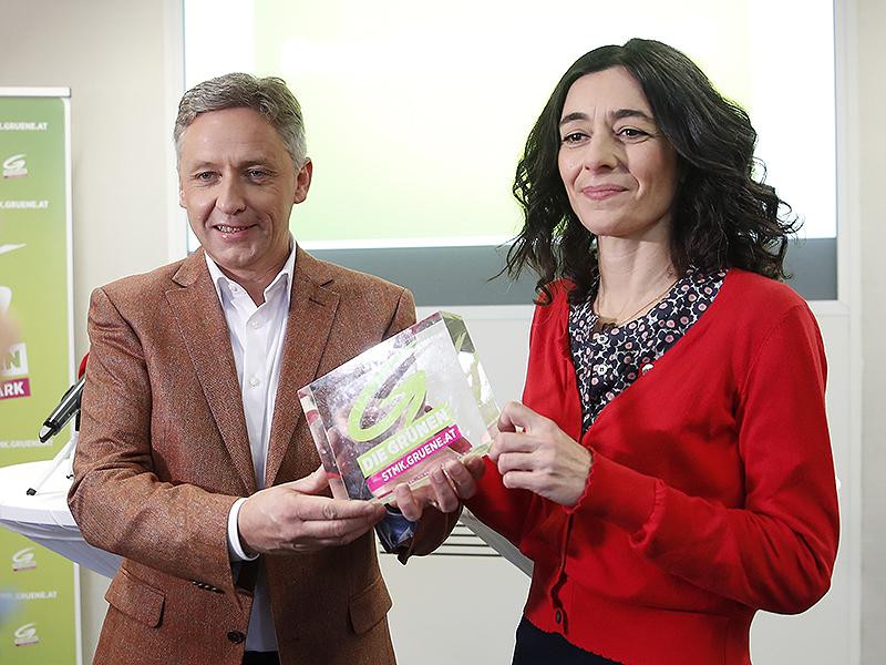 Lambert Schönleitner und Sandra Krautwaschl