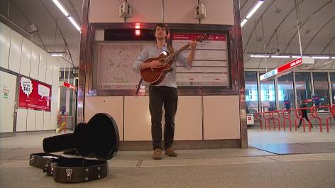 Sraßenmusiker in Wien