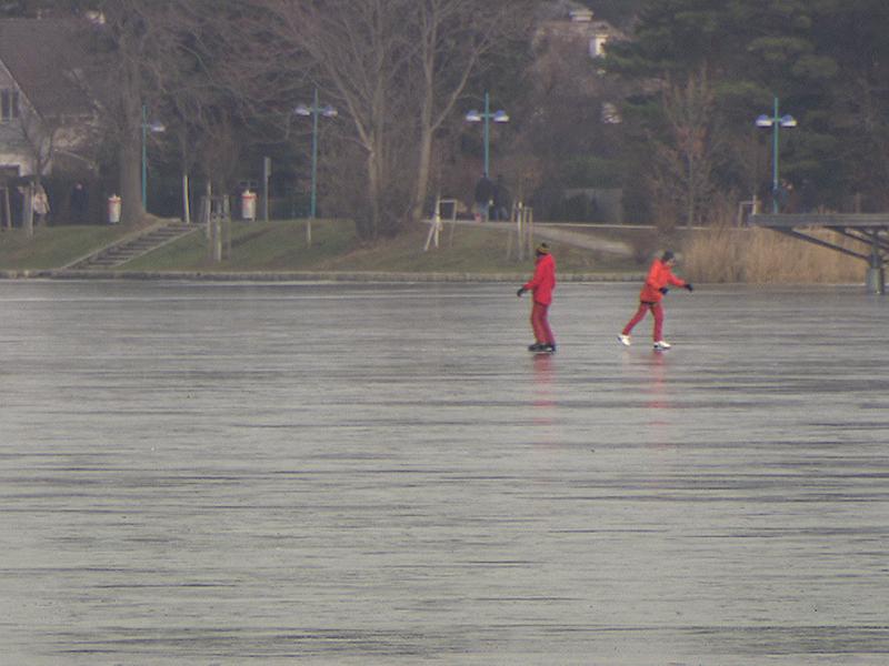 Eislaufen auf Alter Donau