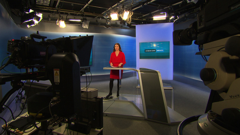 40 ljet Hrvatska redakcija ORF-a - Melanie Balasković u študiju za Dobar dan Hrvati