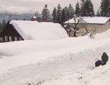 Schneewall gegen Lawine in Abtenau