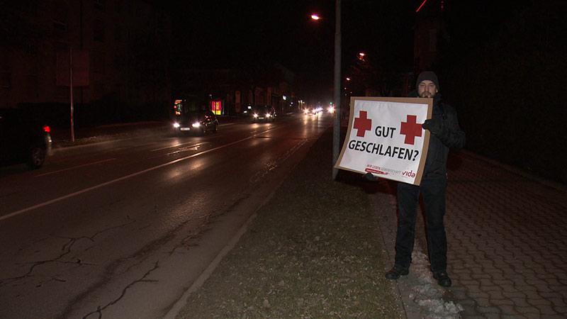 Rotes Kreuz Protestaktion Klagenfurt