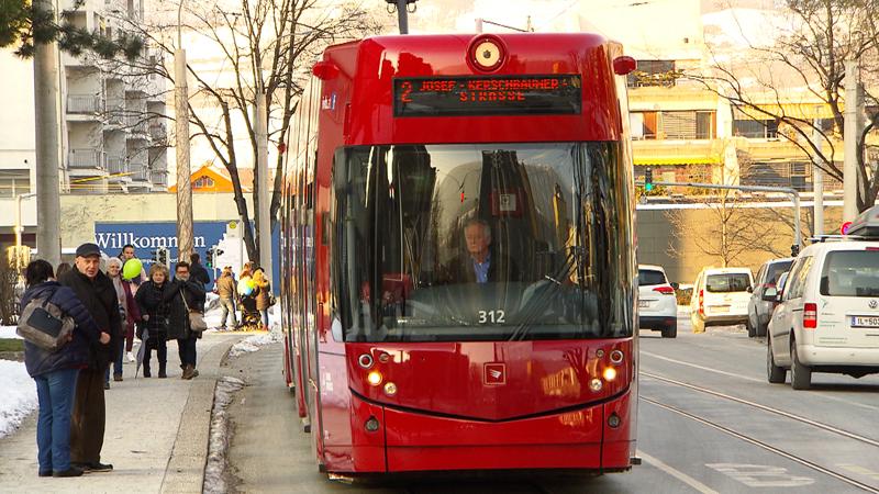 Straßenbahnlinie2 in Innsbruck