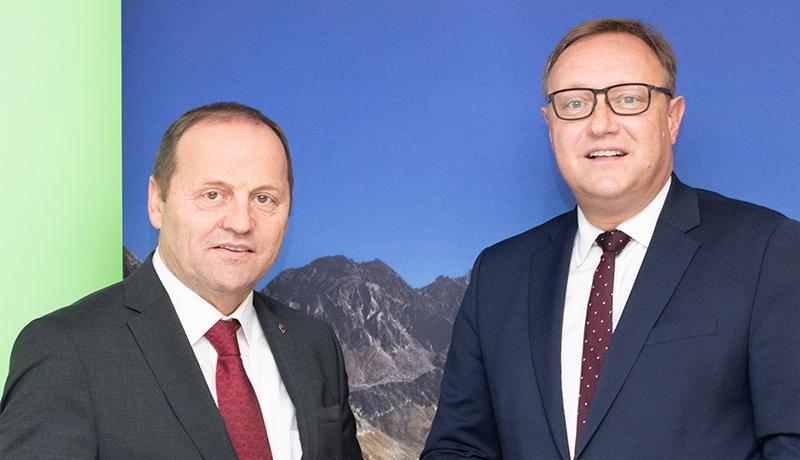 LH-Stv. Josef Geisler und TIWAG-Vorstandsdirektor Thomas Gasser