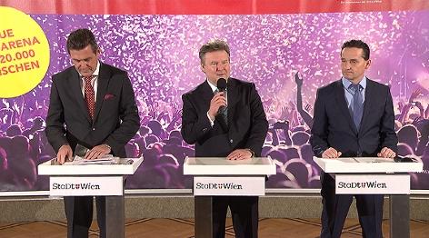 Peter Hanke, Michael Ludwig, Kurt Gollowitzer