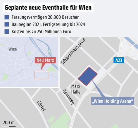 Detailplan mit geplantem Standort