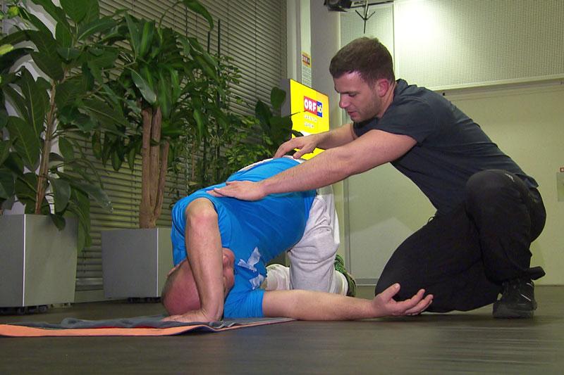 Robert Morawec trainiert
