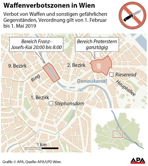 Waffenverbotszone Grafik