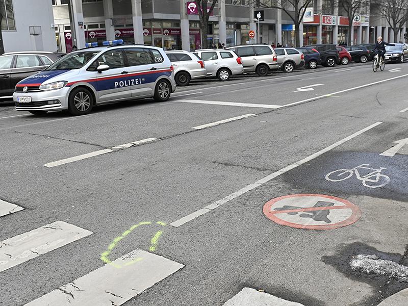 Unfallstelle Landstraßer Hauptstraße