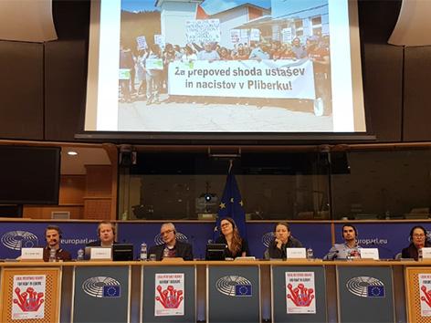 Evropska levica anketa Bruselj Andrej Mohar antifašiszem gue parlament skrajni