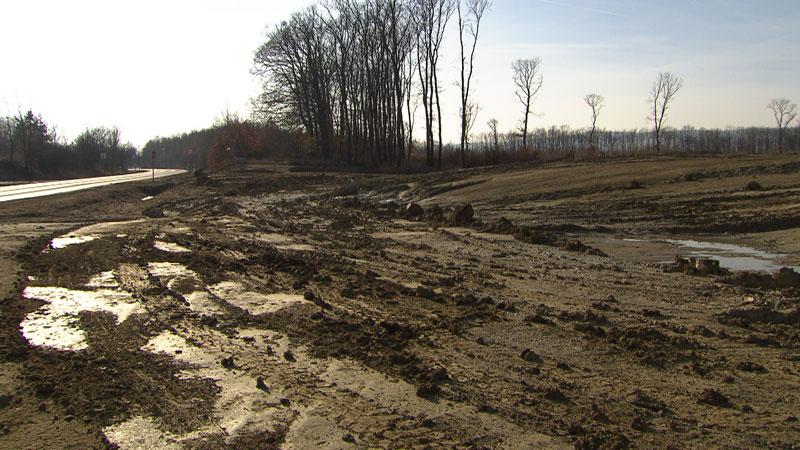 Autobahn Baustelle in Ungarn