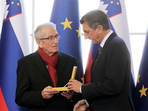 Florjan Lipuš zlati red za zasluge Pahor podelitev