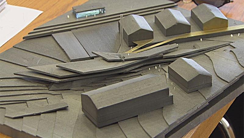 Modell für neues Ortszentrum Obertauern