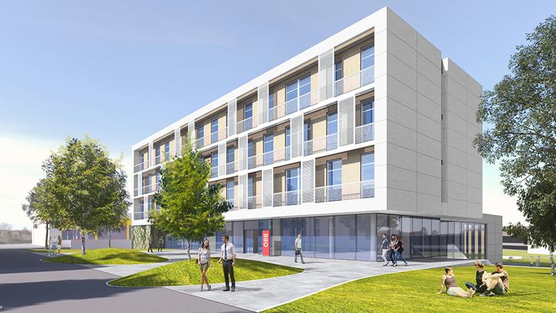 Sankt Pölten ÖBB Projekt Lehrlingsheim