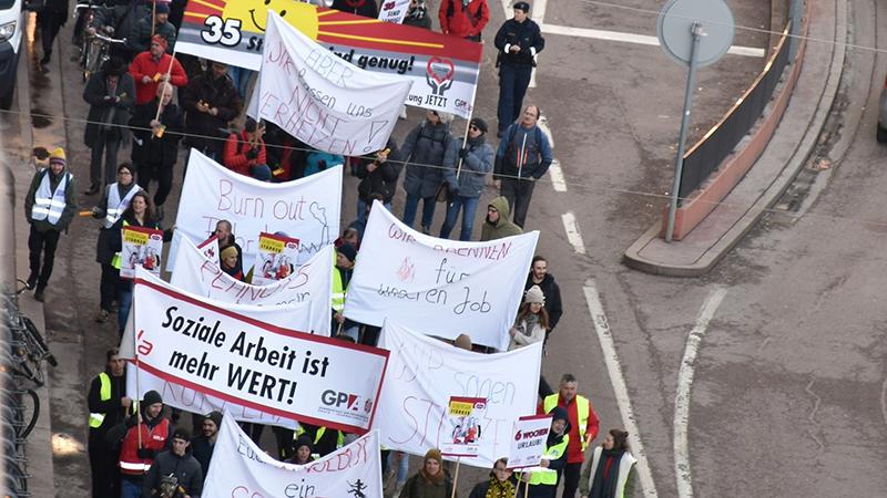 KV-Verhandlungen Protest