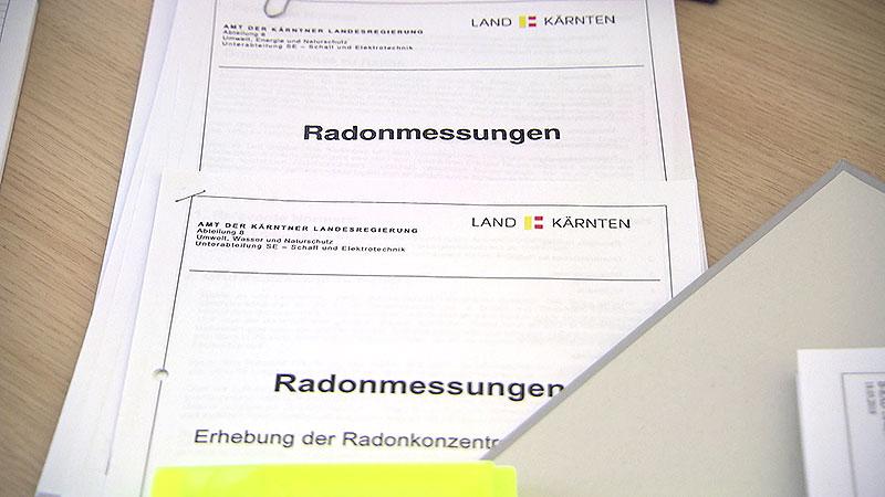 Radon Werte