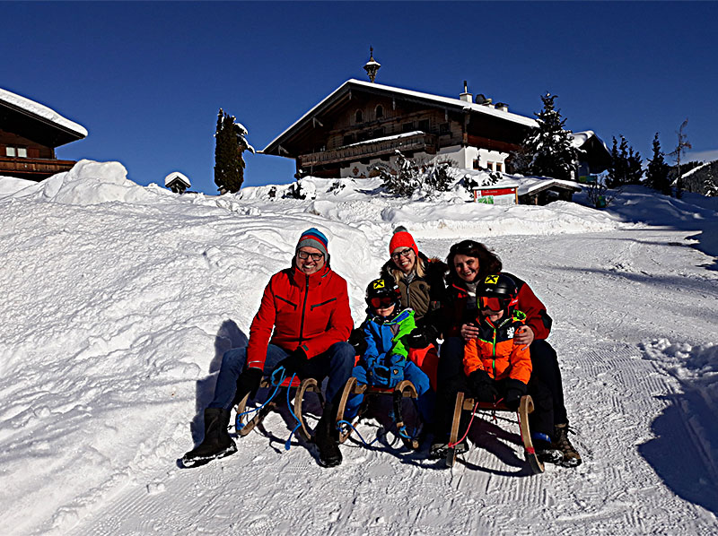 Caroline Koller und Familie Oberreiter