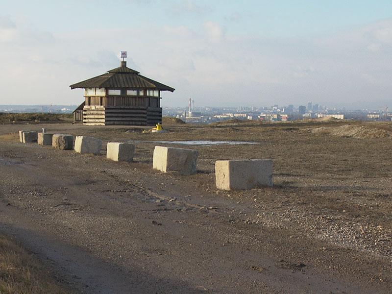 Ziegen Mülldeponie Granitsteine Reichsbrücke