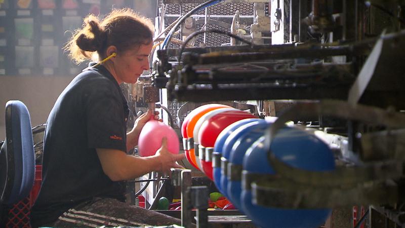 Luftballons aus dem Gummiwerk Imst