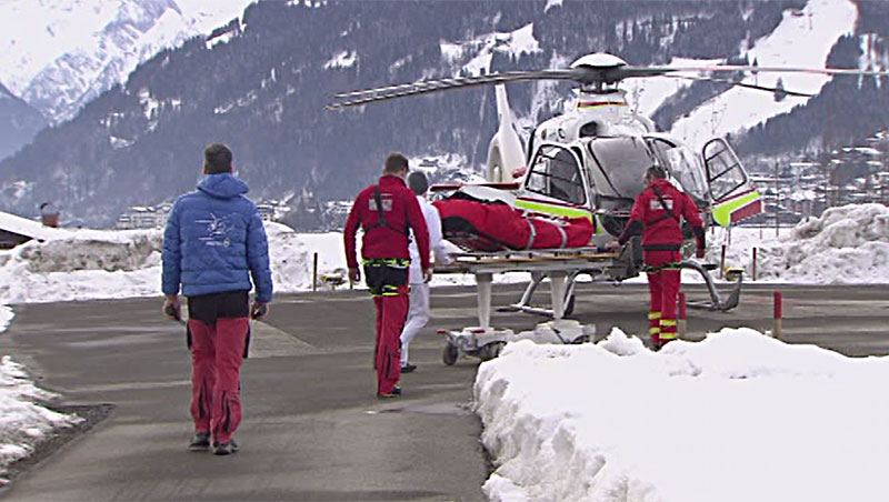 Helikopter Unfallchirurgie Tauernklinikum Zell am See