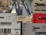 Collage mit Bildern gestohlener Waren