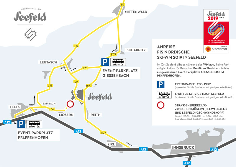 Anreiseplan Nordische Ski-WM