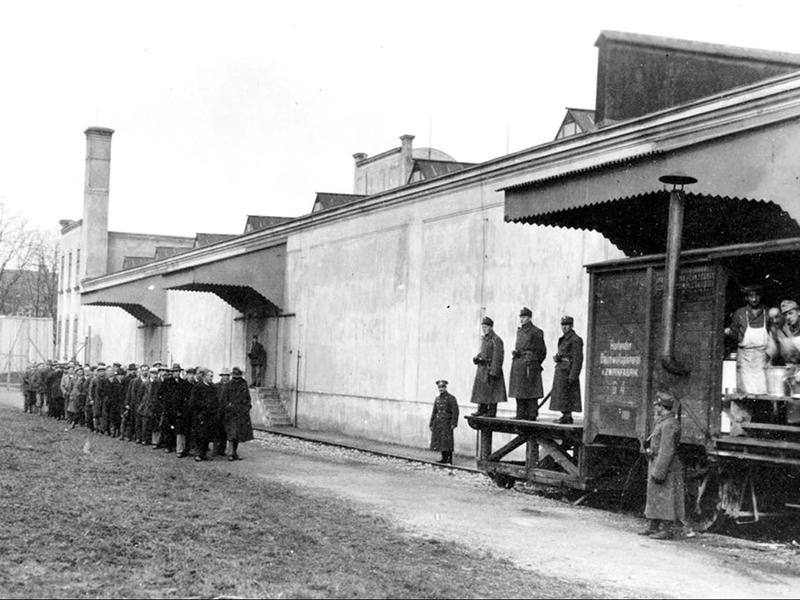 Bürgerkrieg Anhaltelager Gefangene St. Pölten