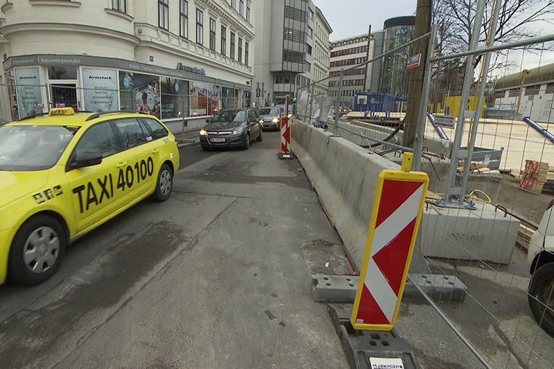 Straße Baustelle