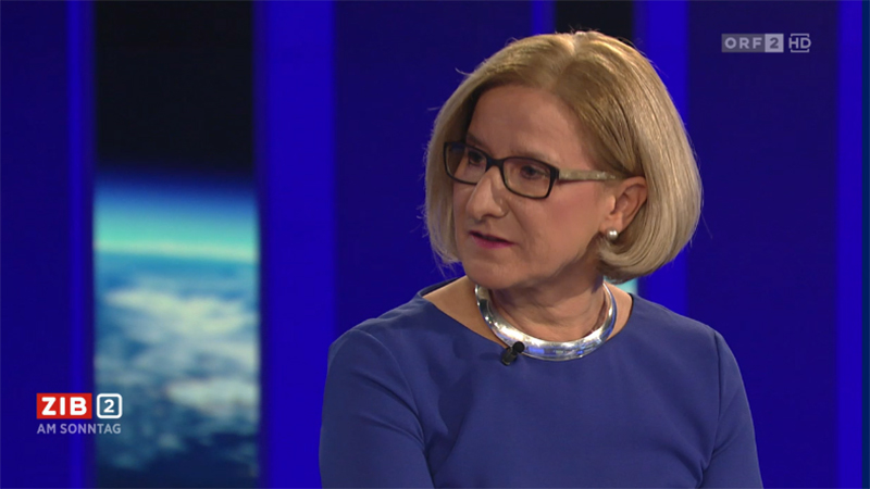 Johanna Mikl Leitner ORF ZIB 2
