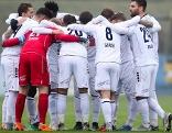 Mannschaft des SC Wiener Neustadt beim Jubel