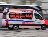 Ein Rettungsauto in Wien im Einsatz