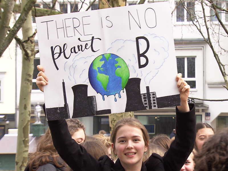 Schüler Demo Klima