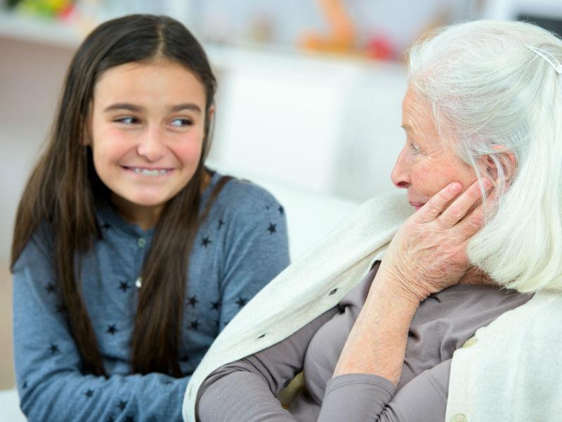 jung und alt Generationen
