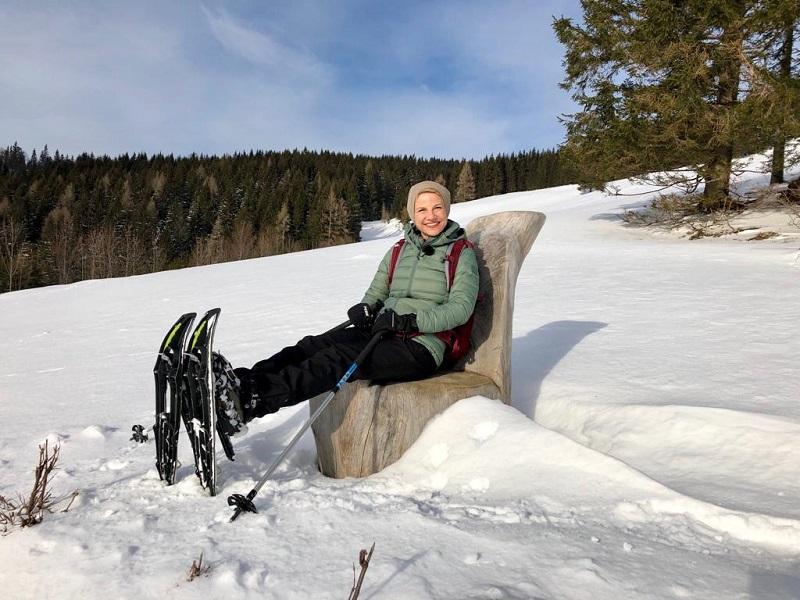 Schneeschuhwandern Hochbärneck Kristina Sprenger