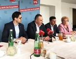 Astrid Eisenkopf, Christian Dax, Hans Peter Doskozil, Christian Illedits und Verena Dunst
