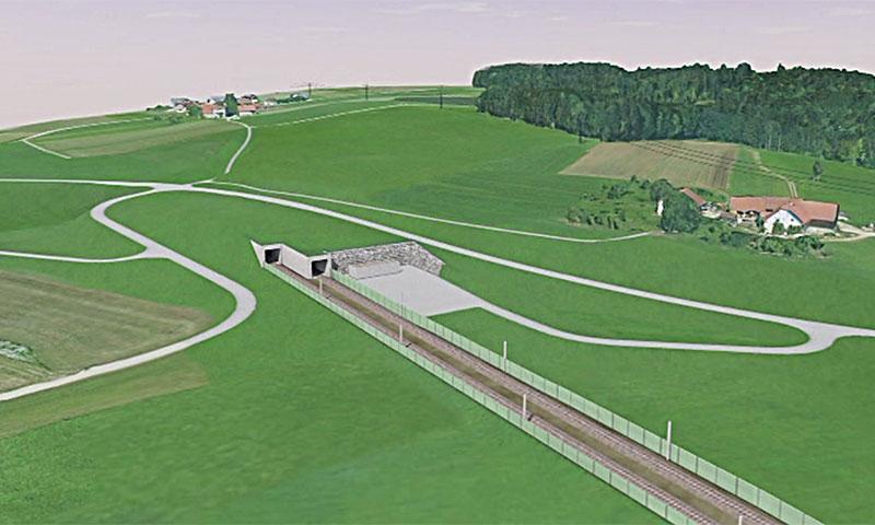 Plan für Tunnelbau Köstendorf