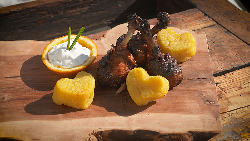 Wintergrillen Chickenlollipops