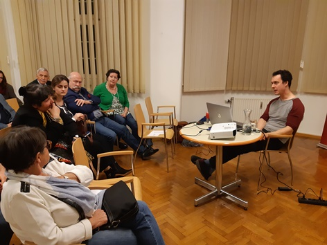 """Bernhard Weidinger referiert zum Thema """"Rechtsextremismus in Österreich"""""""