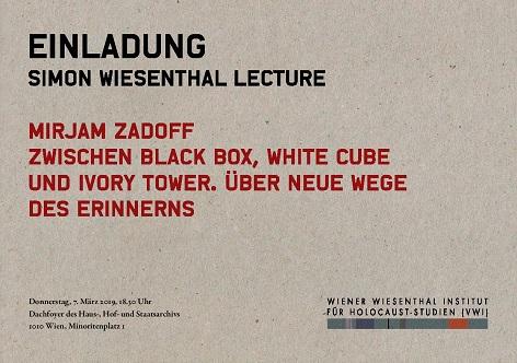 Simon Wiesenthal Lecture Mirjam Zadoff