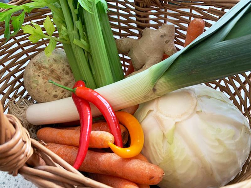 Gemüse für Fastensuppe