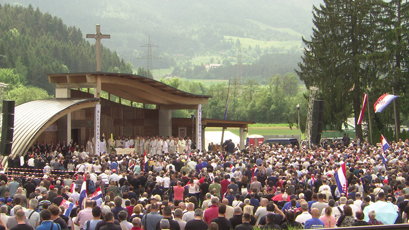 Loibacher Feld Bleiburg Treffen Gottesdienst Ustascha