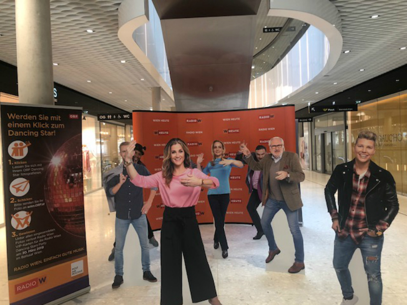 ORF Dancingstars - Figuren im Post am Rochus.