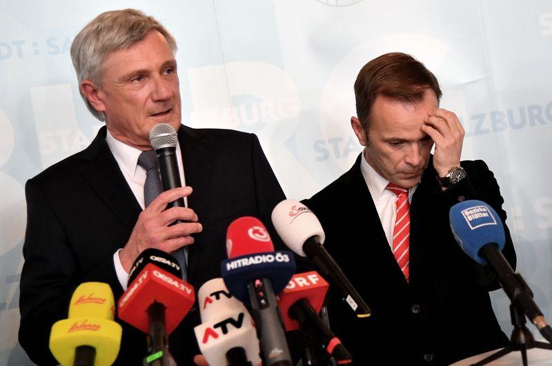 Harald Preuner (ÖVP) und Bernhard Auinger (SPÖ) bei Pressegespräch