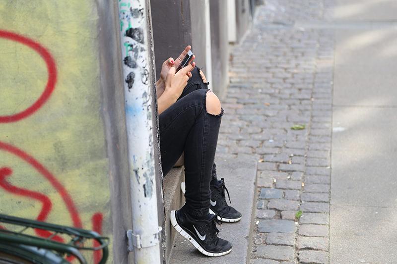 Jugendliche Handy