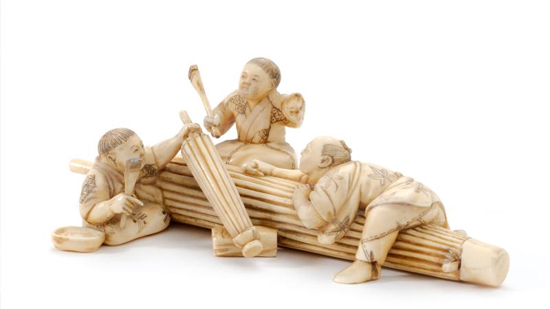 Japanische Elfenbeinfigur