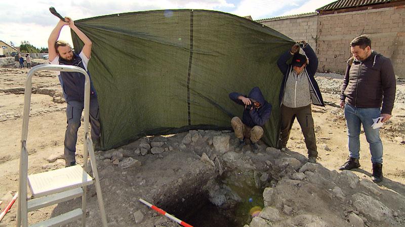 Archäologen in Müllendorf